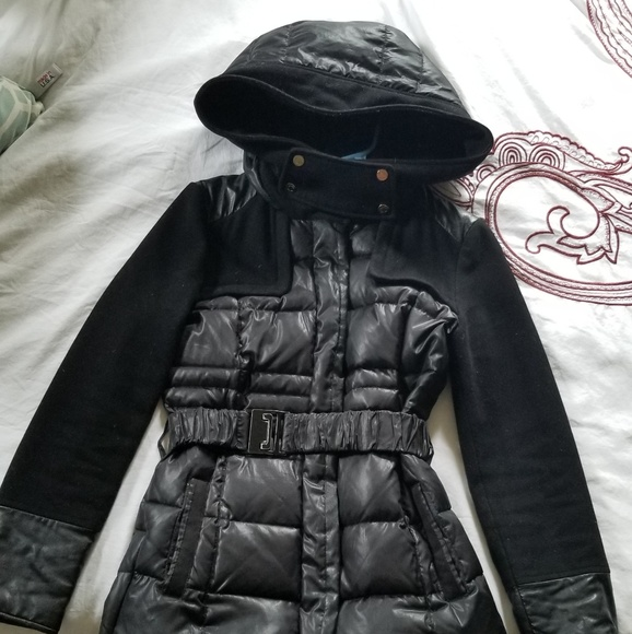 26d26ed28 Kenneth Cole puffer jacket with hood and belt